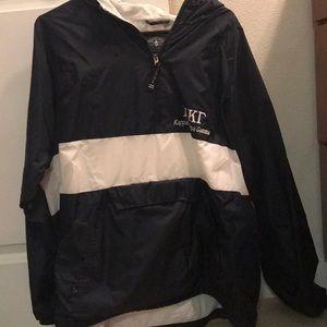 Kappa Kappa Gamma pullover rain jacket